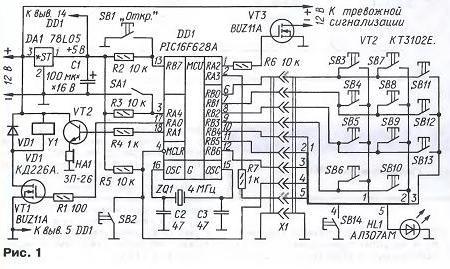 Основа замка микроконтроллер